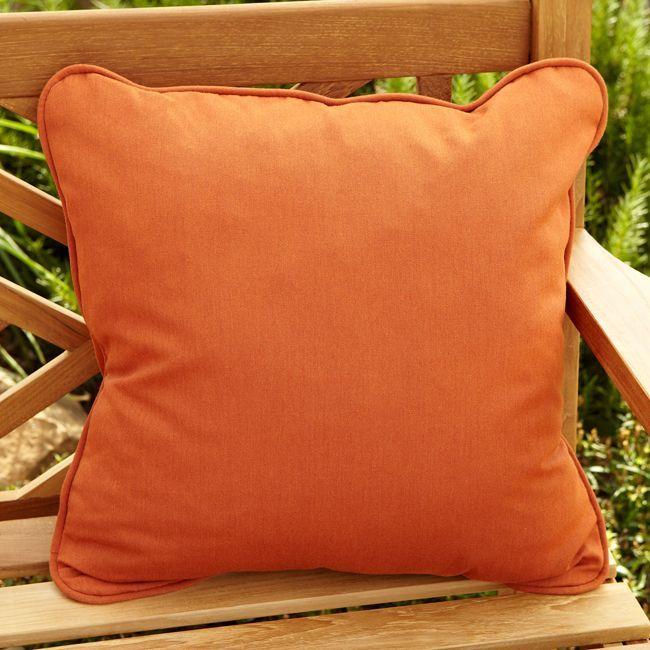 Clara Rust Indoor/ outdoor 22-inch Square Outdoor Sunbrella Pillow (Set of 2) (Rust), Gold (Acrylic), Outdoor Cushion