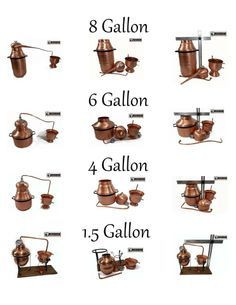 Some of our smaller moonshine stills and accessories