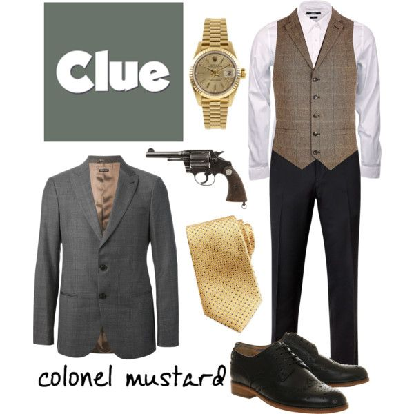 """Colonel Mustard 1 - Clue"" by b-scottyer on Polyvore"