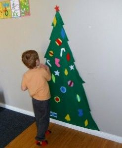 Christmas Crafts for Kids, maybe Velcro so it can be redecorated everyday!!!!