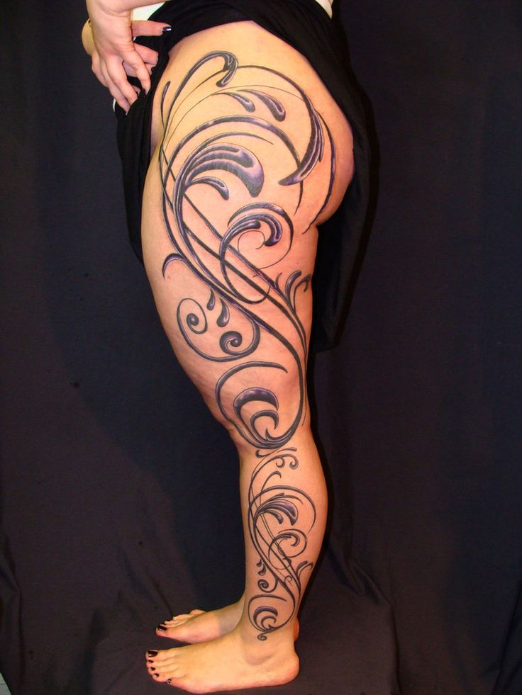 25 best ideas about back leg tattoos on pinterest side for Thigh sleeve tattoo