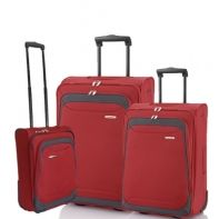 Zestaw walizek Travelite Portofino czerwony