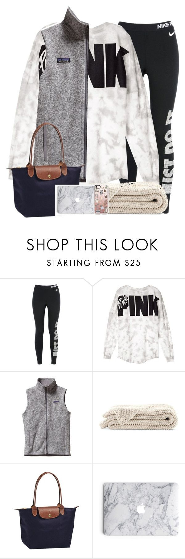 """""""rtd!"""" by camelizabethh ❤ liked on Polyvore featuring NIKE, Victoria's Secret, Patagonia, Longchamp and Casetify"""