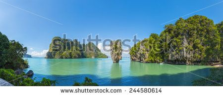 http://www.shutterstock.com/pic-244580614 James Bond Island (Phang Nga) Found Off The Coast Of Phuket In Thailand. Surrounded By Clear Waters And Lush Green Mountain Cliffs, Its Name Originates From A James Bond Movie That Had Been Shot There Stock Photo 244580614 : Shutterstock #thailand #stockphoto #thailandphoto #stockimage #thailandstock #bondisland #bond #island