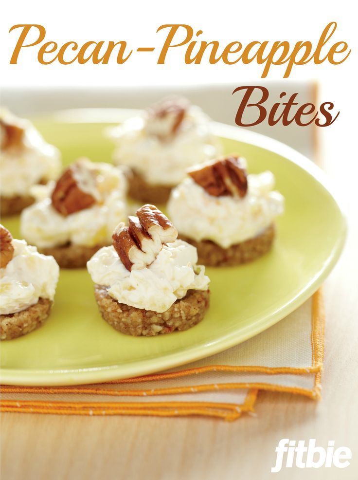 Yummy pecan-pineapple bites!