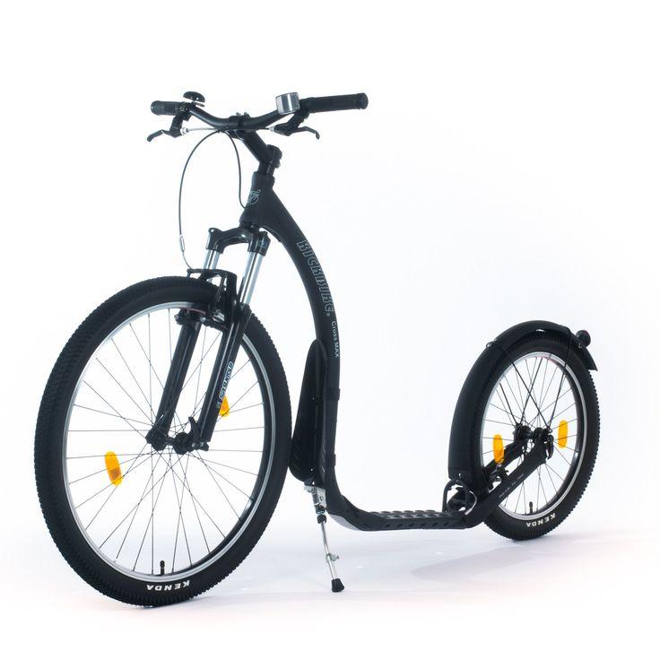 Découvrez le footbike Cross Max Disc 20D de la marque finlandaise Kickbike, destiné à un usage tout terrain. Ses freins à disque à commande à câble, sa fourche à suspension et ses pneus VTT en font un produit exceptionnel et adapté qui vous permettra de découvrir des sensations inédites.