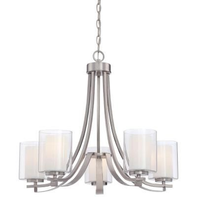 Minka Lavery Parsons Studio 5 Light Brushed Nickel Chandelier
