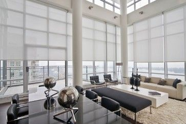 Sunscreens - modern - living room - orange county - Solar Shading Systems