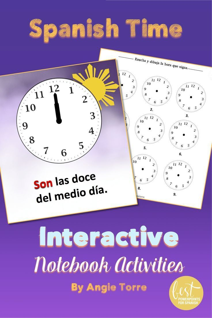 writing time in spanish If you are referring to writing it out, below is a guide es la una = it's one o'clock son las dos = it's two o'clock son las seis de la tarde = it's six o'clock in the evening.