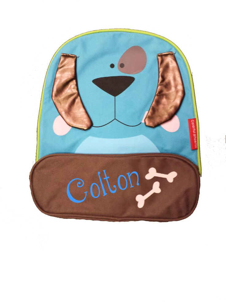 Personalized Dog Toddler Backpack. Personalized with Your Child's Name Toddler Backpack 5 by 5MonkeysDesigns on Etsy