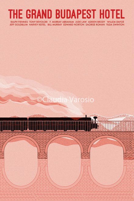 The Grand Budapest Hotel 12x18 inches movie by ClaudiaVarosio