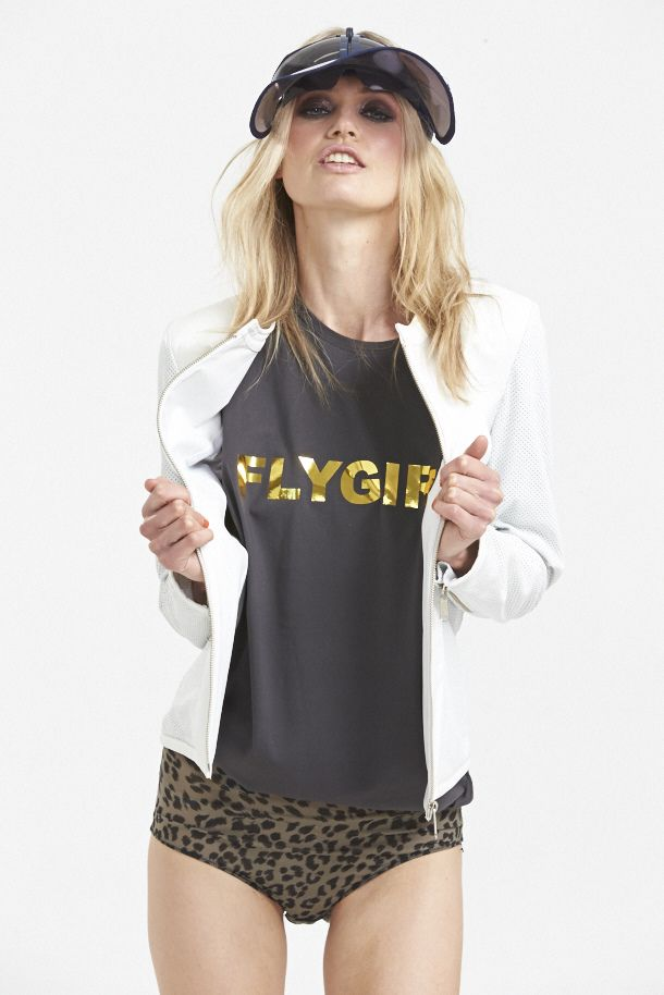 Flygirl Tank and Gamechanger Leather Jacket. www.hideseekers.com