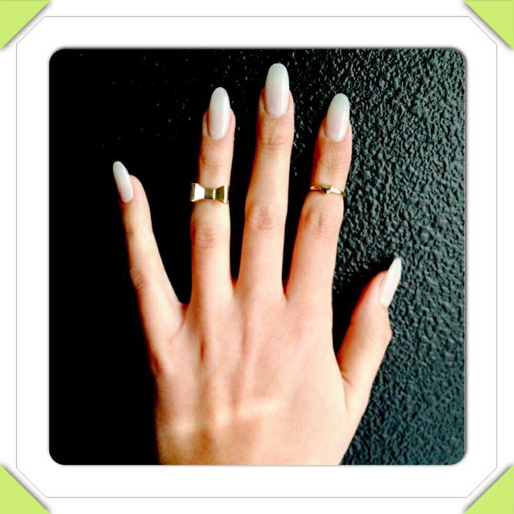 Almond nails. OPI Classic Bubble bath nail polish color ...