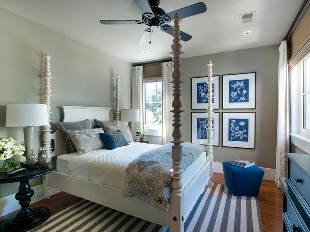 For a beachy summer style, just add more white even if your walls and floors are darker!