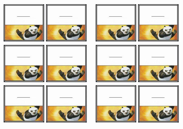 Kung Fu Panda Name Tags