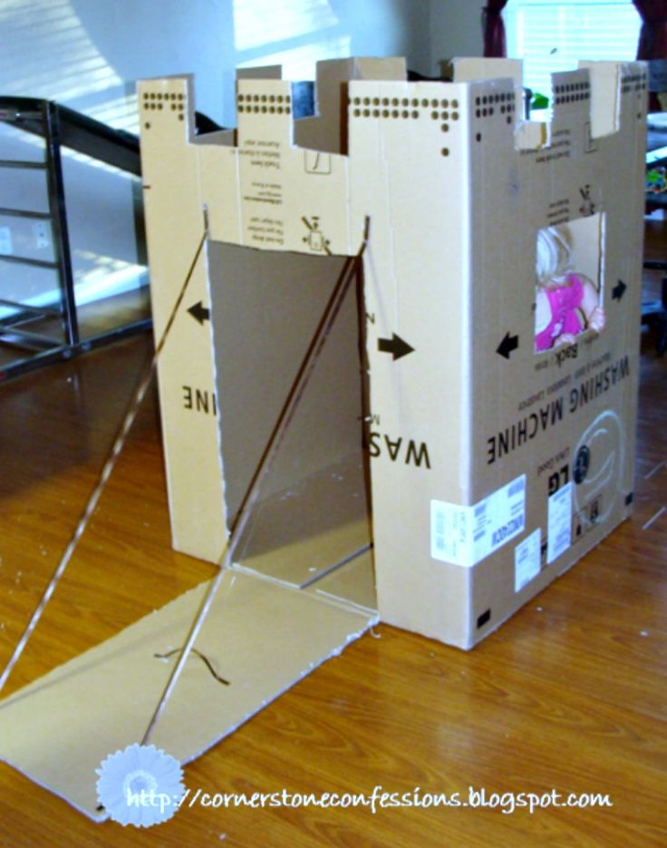 castle fort from a cardboard box