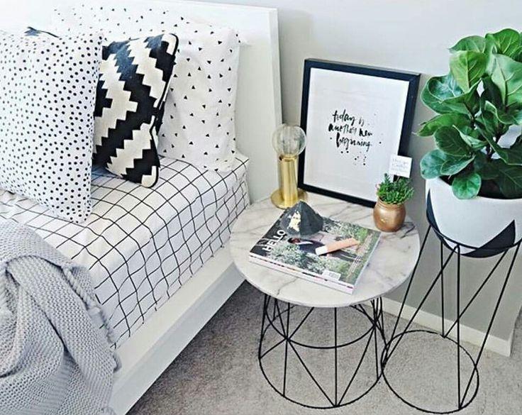 Cosy Bedroom, Teen Bedroom, Guest Bedrooms, Master Bedrooms, Monochrome  Bedroom, Bedroom Interiors, Bedroom Furniture, Kmart Decor, Ikea Hacks