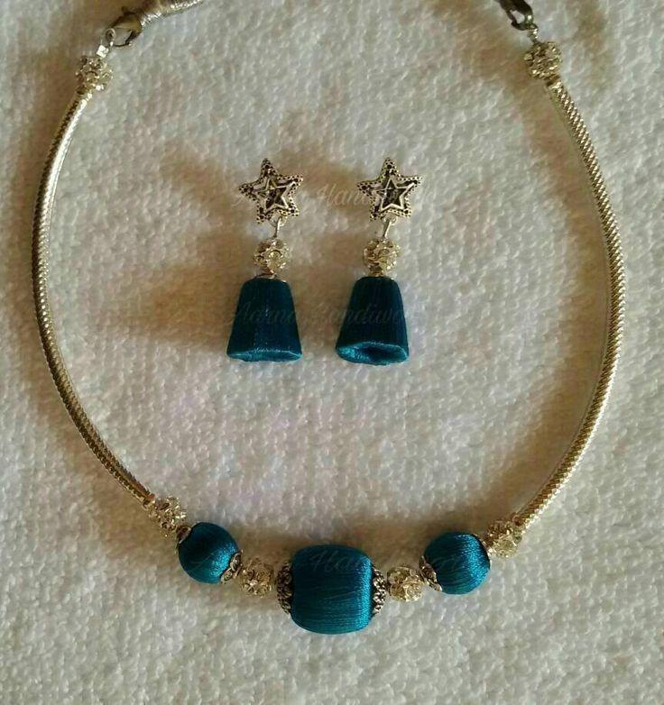 Peacock blue set