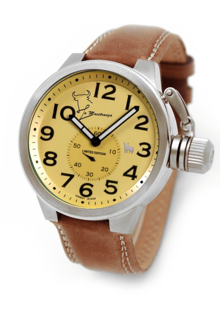 #Reloj Toro #Watch - Modelo TO-1171-3 Colección La Maestranza - Reloj con esfera de 46 mm de diámetro con caja de acero quirúrjico y correa de piel campera. Movimiento citizen-miyota, solo tempo, WR 5 ATM. Garantía de dos años -Tienda Oficial Online #Moda #Espana