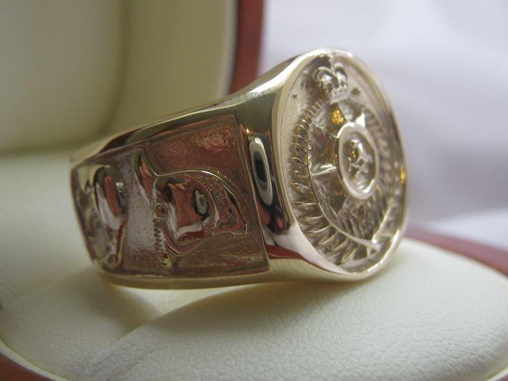 NZ Fire Brigade Ring in Gold