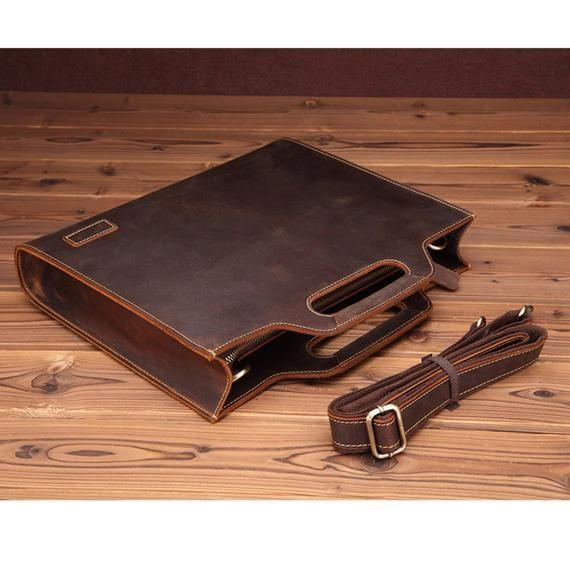 Onwijs Laptop messenger bags lederen tas, heren lederen tas, lederen NP-58