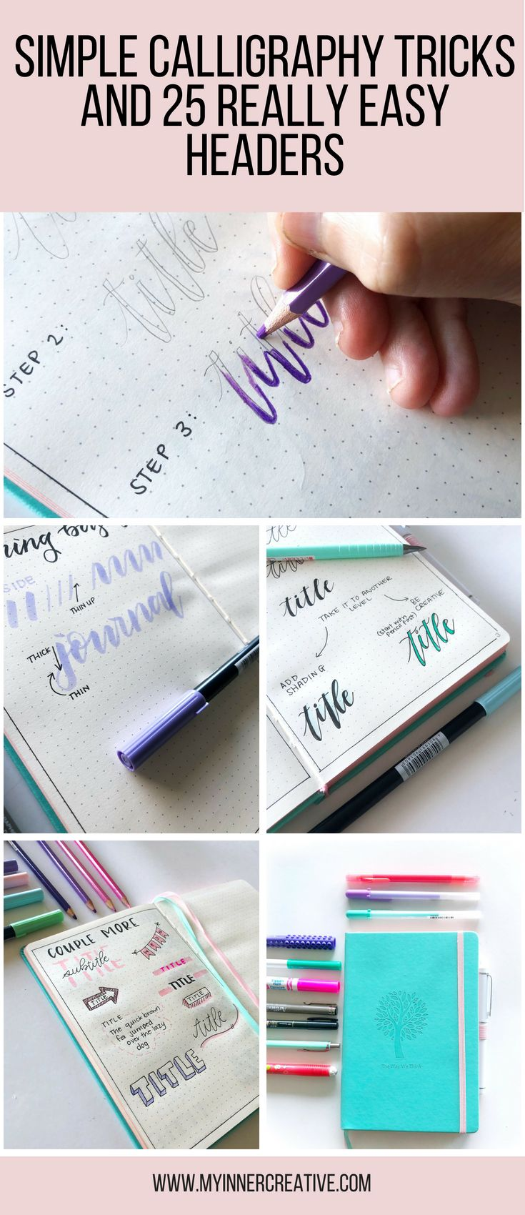 Simple Calligraphy Tricks and 25 Simple headers to get you started!