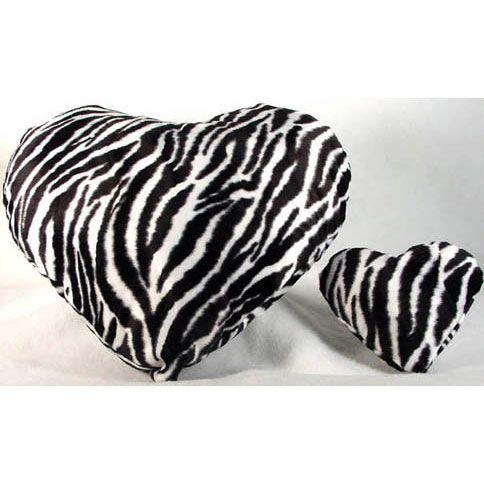 Zebra+stuff | Large Zebra Plush Heart Shaped Pillow :: Pillows :: Cutiepie ...