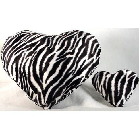 Zebra+stuff | Large Zebra Plush Heart Shaped Pillow :: Pillows :: Cutiepie ...