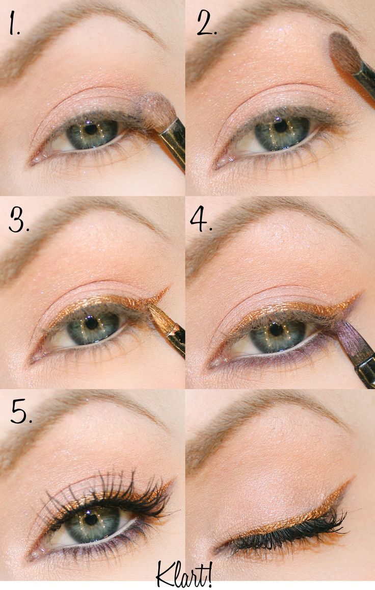 tutorial for a beautiful cat eye in copper gold & purple <3