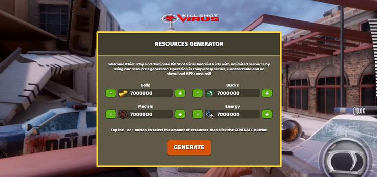 - Unlimited Gold - Unlimited Bucks - Unlimited Medals - Unlimited Energy  Kill Shot Virus Hack Online:  http://resources-generator.online/kill-shot-virus.html
