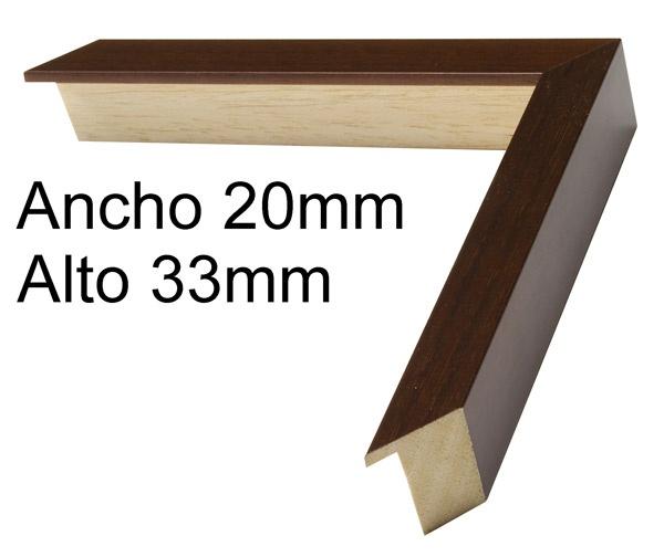 Moldura de madera a $5.88€ el metro