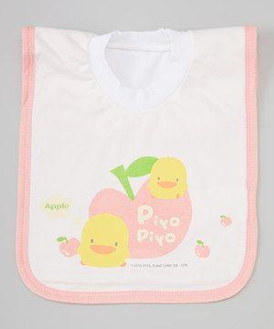 Piyo Piyo Pink 'Piyo Piyo' Apple Pullover Bib by Piyo Piyo #zulily #zulilyfinds