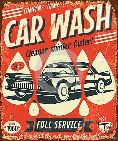 Retro car wash sign