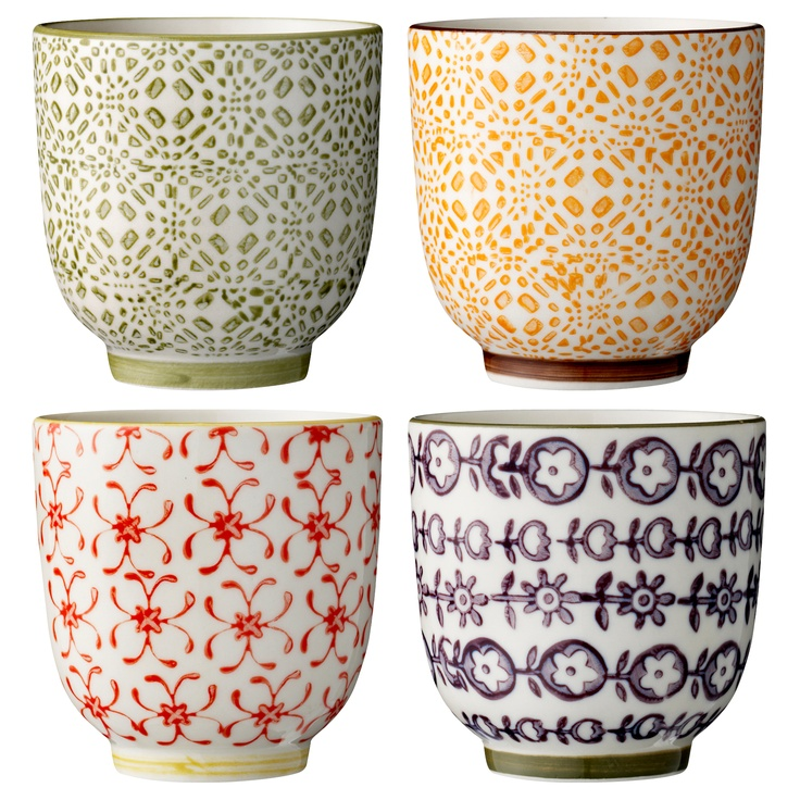 porcelain mugs from Bloomingville. Love the colorful style! www.bloomingville.com