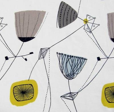 fabric Lucienne Day Perpetua vtg 50s Heals revival retro DIY cushion picture