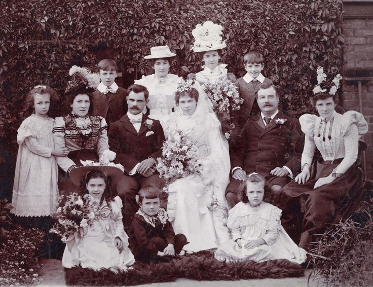 Wedding of Florence Edith  Alexander Flower - July 1899, Forrest Gate, London.  I love this photo of my Great Grandparents.