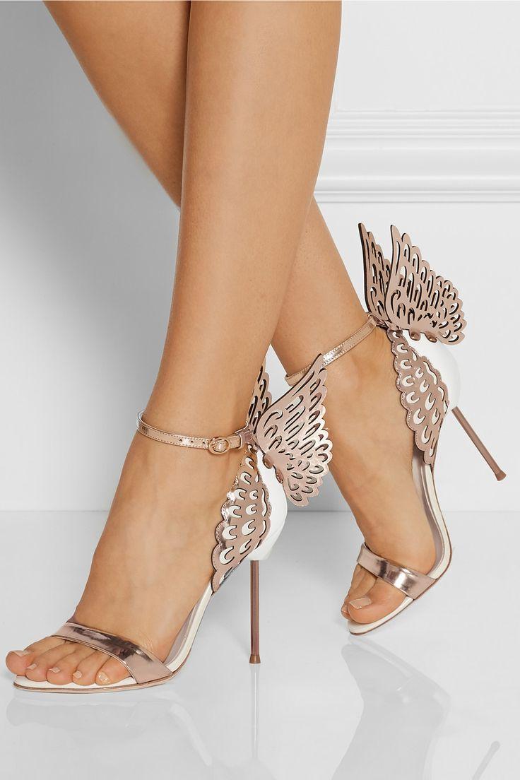 Sophia Webster|Evangeline metallic and patent-leather sandals|NET-A-PORTER.COM