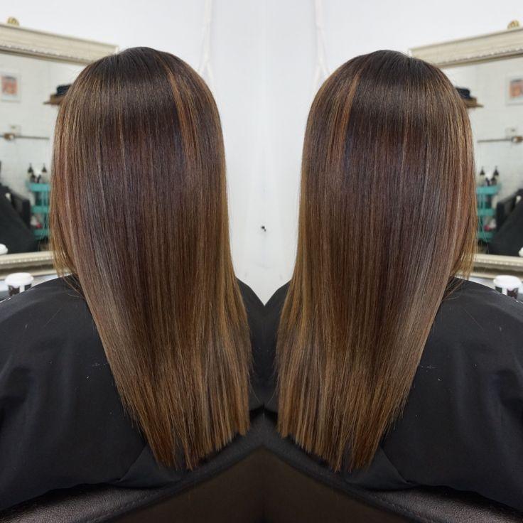 Brunette balayage #brunette #balayage