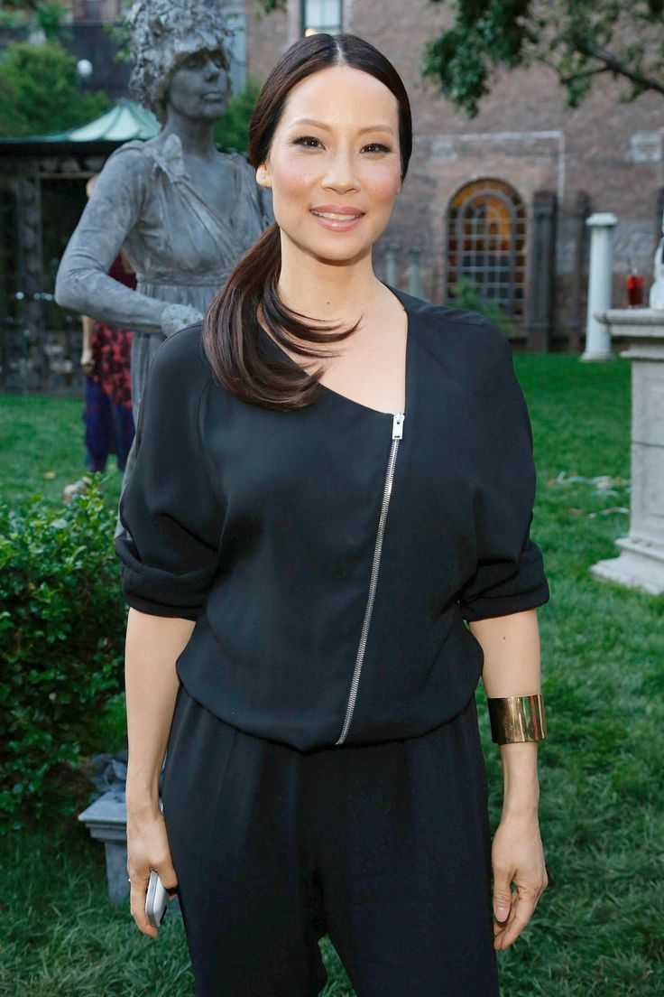 lucy liu at the stella mccartney spring 2015 presentation