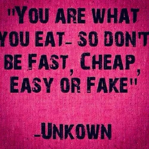 you are what you eat #healthy #motivation