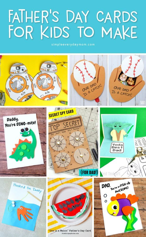 12 Fathers Day Cards For Kids To Make To Celebrate Dad Kids