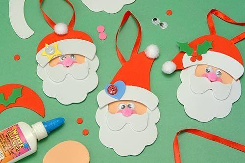 pap noel adornos de navidad pinterest - Trabajos Manuales De Navidad