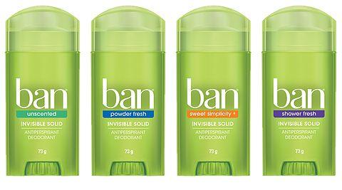 A linha de desodorantes Ban garante proteção intensa por 24 horas contra o suor e odor. Ban acompanha seu ritmo, onde quer que você esteja.