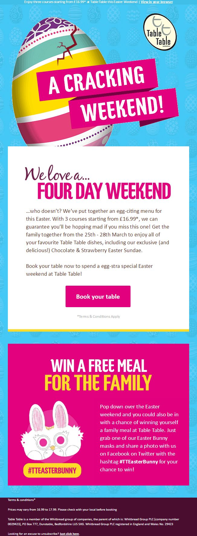 123 best easter emails images on pinterest easter email from table table with competition negle Gallery