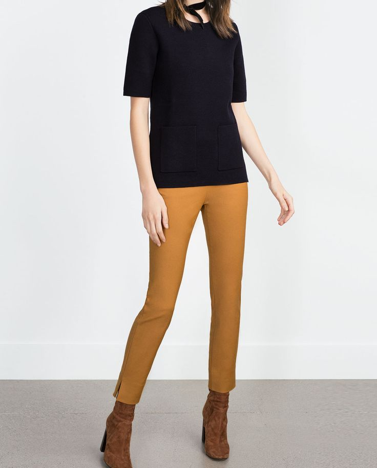 TROUSERS WITH SIDE ZIP from Zara