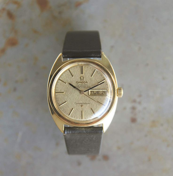 A stellar all-original 18ct gold Omega Constellation Automatic chronometer from around 1968.The dial features the OM stamps at six o'clock, standing for 'Or Massif' and translates to 'Solid Gold' in English. Its famous 751 caliber chronometer automatic movement which has been fully serviced and regulated. The 35mm case – features the cupola of the Geneva Observatory on the back, crowned by eight stars. A little history: described in a late … Read More →