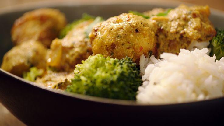 Een overheerlijke viskefta met rijst en broccoli, die maak je met dit recept. Smakelijk!