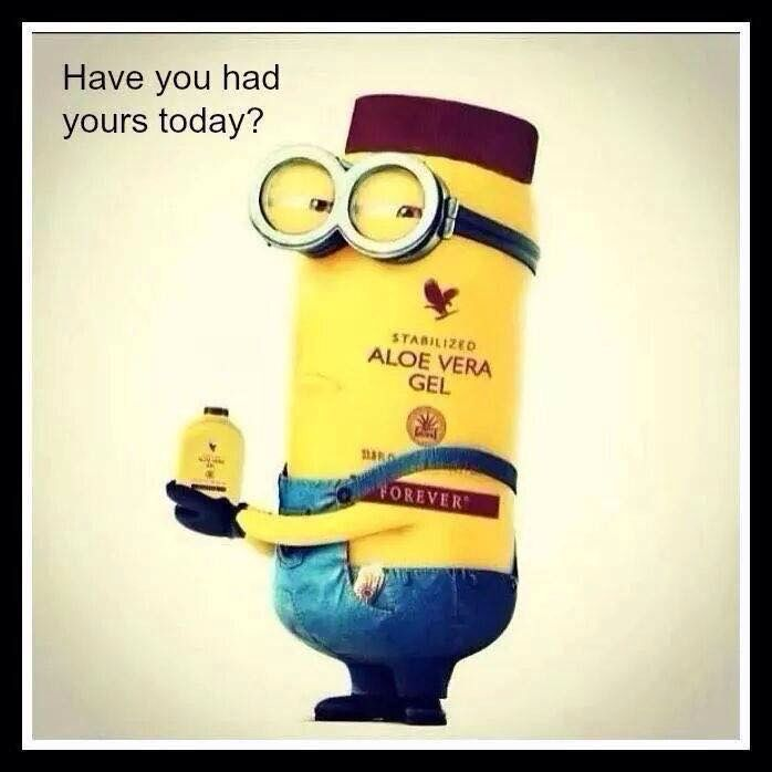 Have you had yours today? Minion Dave has! http://Aloevera-Beauty.flp.com/