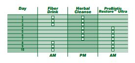 Advocare Herbal Cleanse Directions