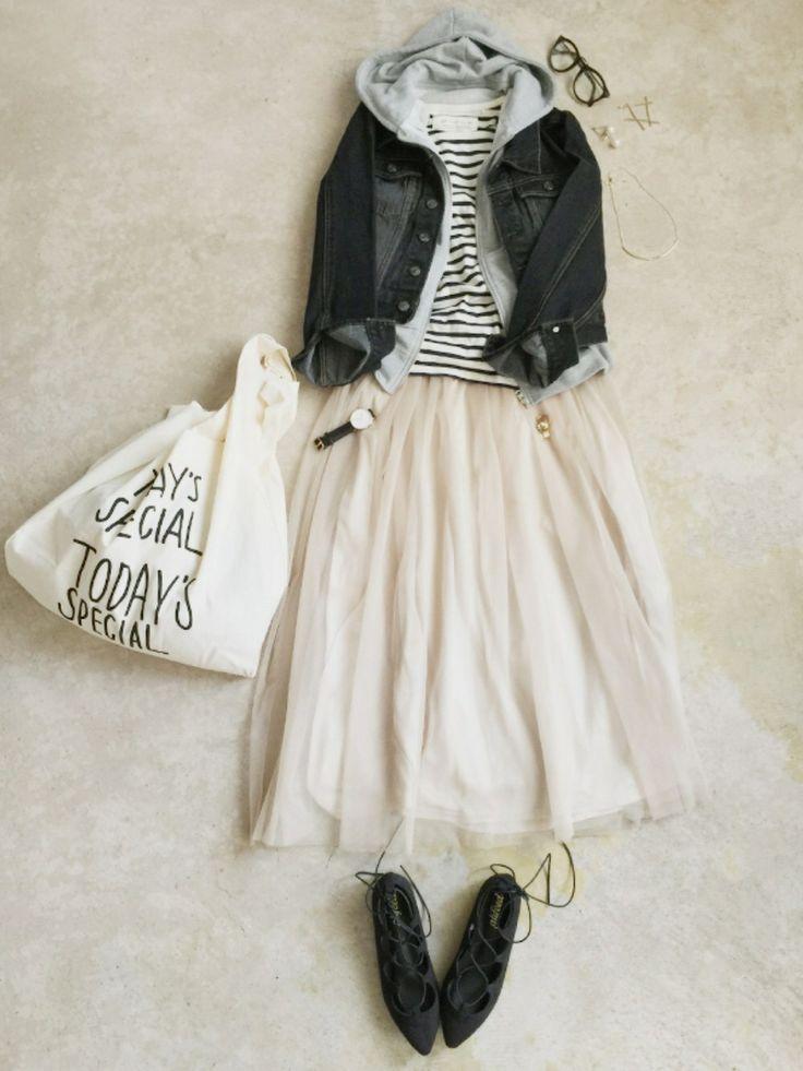 italie to franceのスカートを使ったナチュラル服のイタフラさんのコーディネートです。│インスタ→@italietofrance